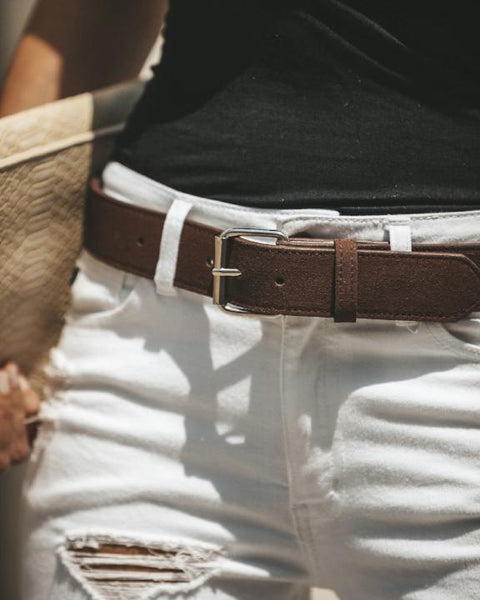 Mendes Suede Belt - Brown