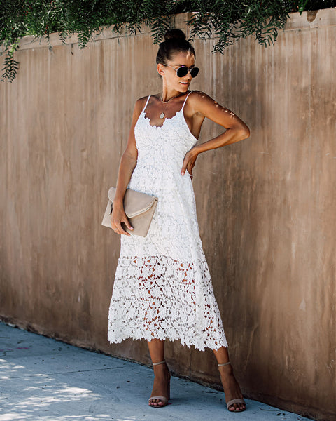 Picturesque Lace Midi Dress - FINAL SALE