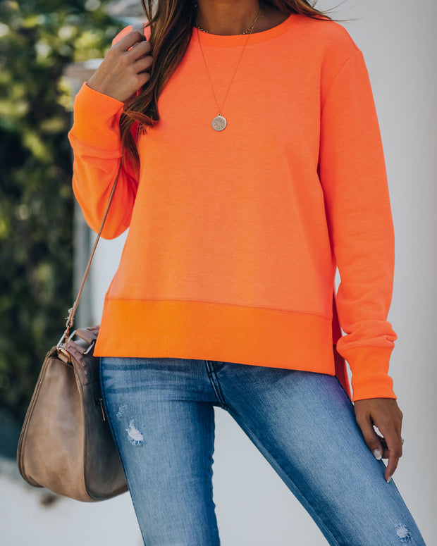 Paint The Town Cotton Blend Pullover - Bright Orange view 7