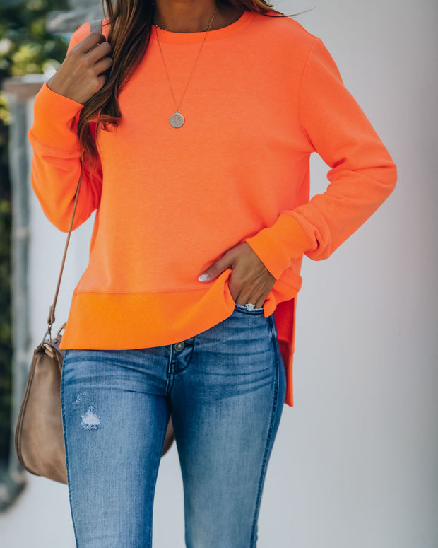 Paint The Town Cotton Blend Pullover - Bright Orange view 1