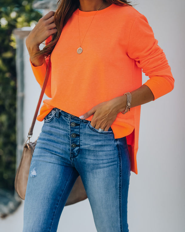 Paint The Town Cotton Blend Pullover - Bright Orange view 8