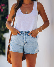 Urban High Rise Denim Mom Shorts