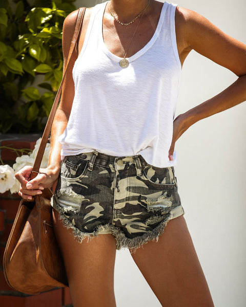 End Game Camo Cut Off Shorts