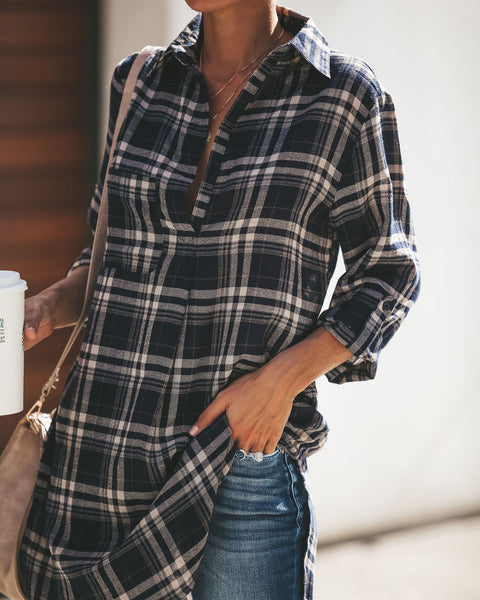 Jillian Plaid Tunic