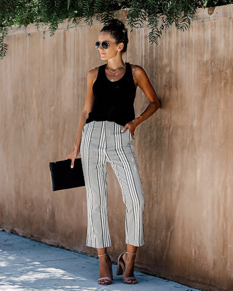 Boulder Cotton + Linen Pocketed Striped Pants - FINAL SALE