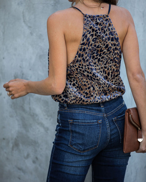 Spotted On The Streets Velvet Cami Bodysuit  - FINAL SALE