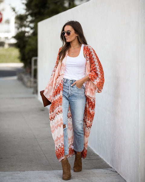 Kindness Matters Cotton Duster Kimono - FINAL SALE