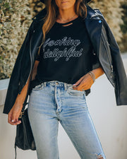 F@#King Delightful Distressed Cotton Tee