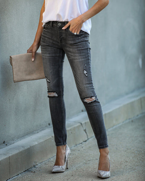 Kolby Mid Rise Distressed Skinny