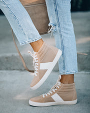 Daniels High-Top Sneaker - Almond