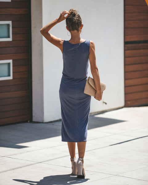 Lasting Beauty Knot Dress - Dusty Navy