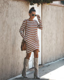 Joanie Striped Pocketed Twist Dress