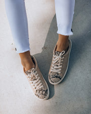 Impulse Faux Leather Python Sneakers view 1
