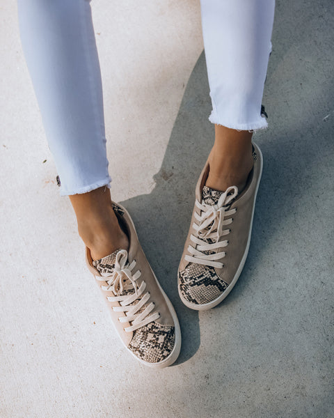 Impulse Faux Leather Python Sneakers