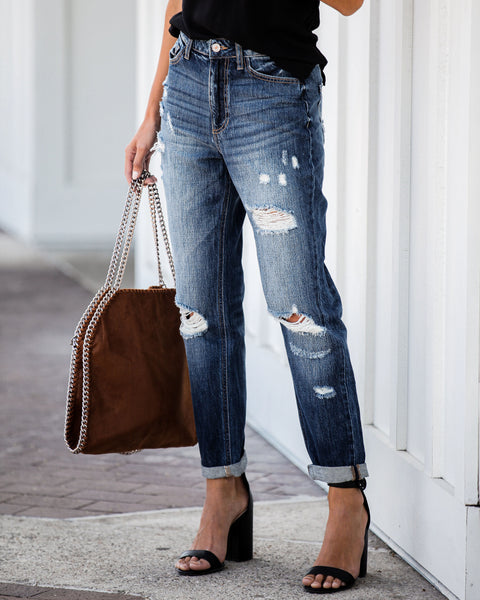 Landon High Rise Boyfriend Denim