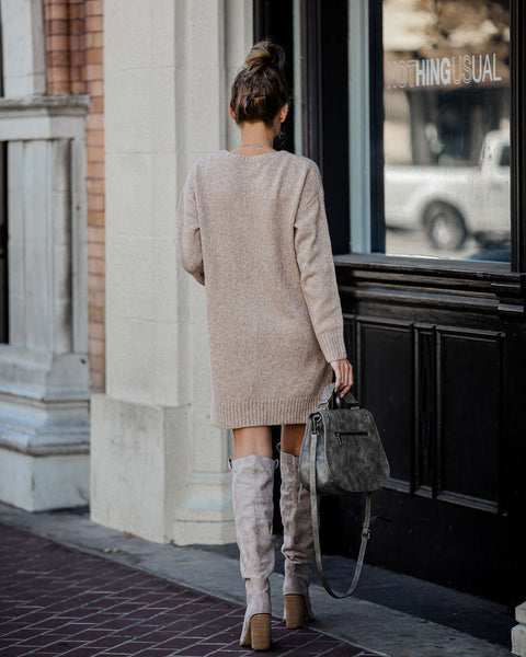 Smoky Mountain Sweater Dress - Oatmeal - FINAL SALE