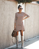 Joanie Striped Pocketed Twist Dress - FINAL SALE