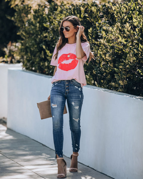 Girly Girl Cotton Lips Tee