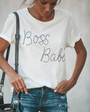 Short Sleeve Boss Babe Cotton Tee