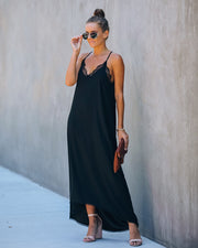 Valle High Low Lace Cami Maxi Dress