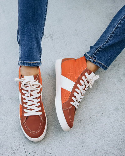 Daniels High-Top Sneaker - Burnt Orange