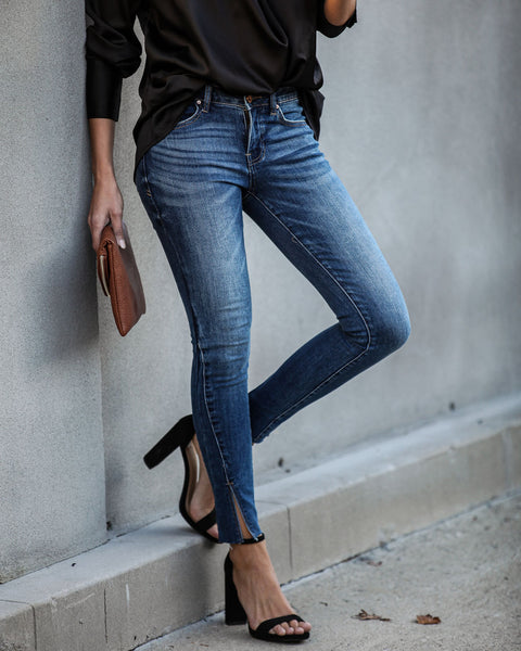 Place To Be Mid Rise Split Ankle Denim