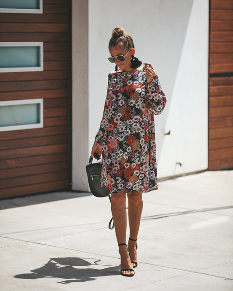 Francine Floral Shift Dress
