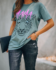 Here To Slay Cotton Mama Leopard Tee