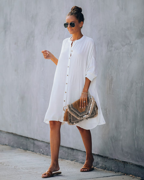 Willie Button Down Cover-Up Dress