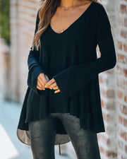 Laurie Bell Sleeve Tunic Sweater - Black