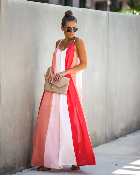 Leading Light Colorblock Maxi Dress - FINAL SALE