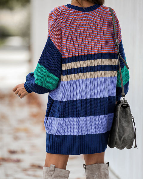 Sunshine On A Cloudy Day Pocketed Sweater Dress - FINAL SALE