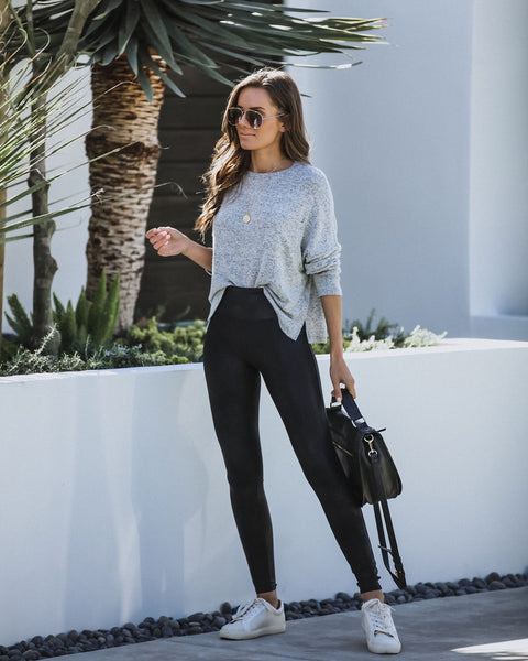 Work From Home Soft Knit Pocket Top