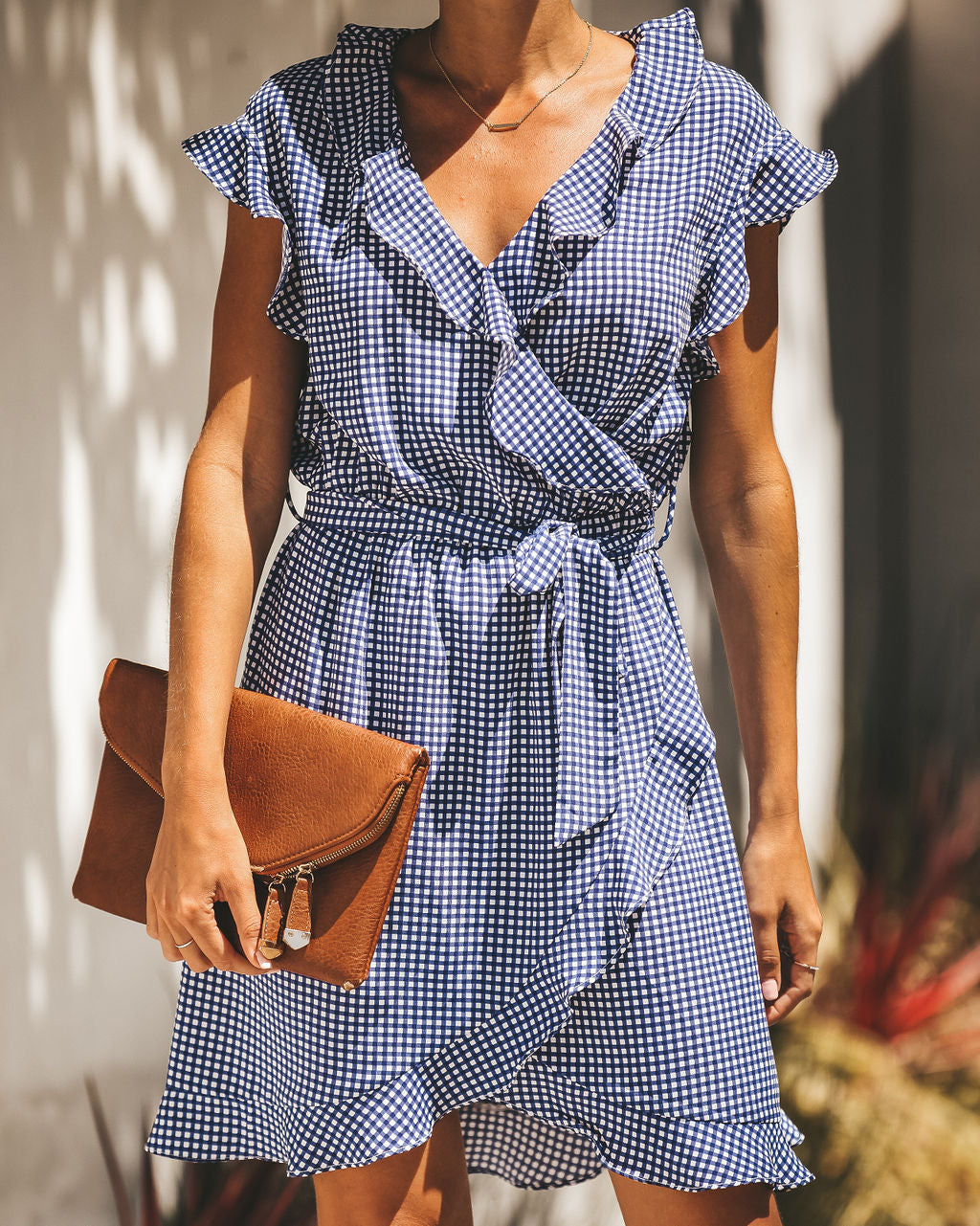 dc9699c4a Detail Product. FILTER ← Home - DRESSES - Tea For Two Gingham Ruffle Dress