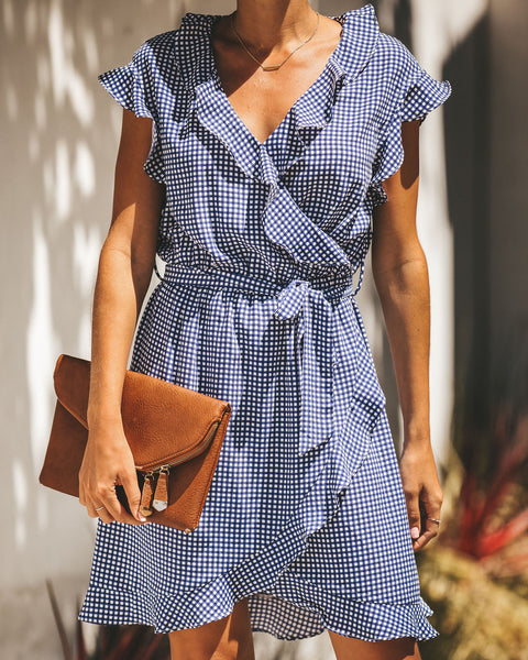 Tea For Two Gingham Ruffle Dress