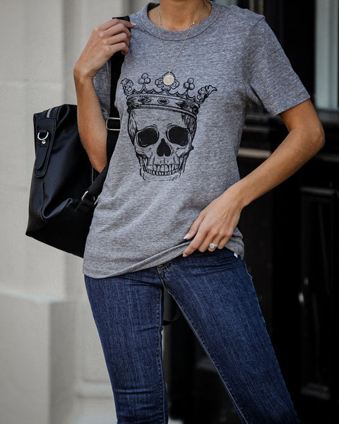Royal Skull Cotton Blend Tee