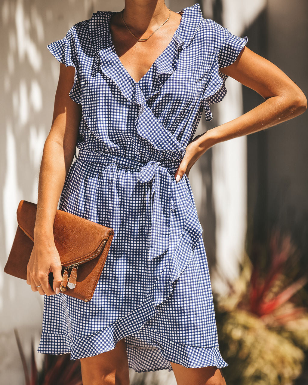 350be597d1a Tea For Two Gingham Ruffle Dress – VICI