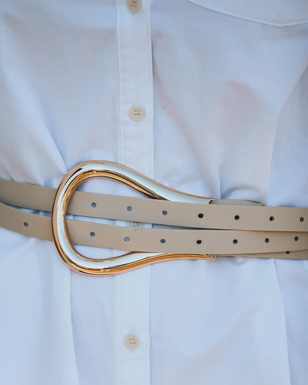 Trim Dual Strap Buckle Belt