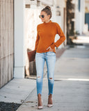 Cozy On Up Mock Neck Sweater - Mustard