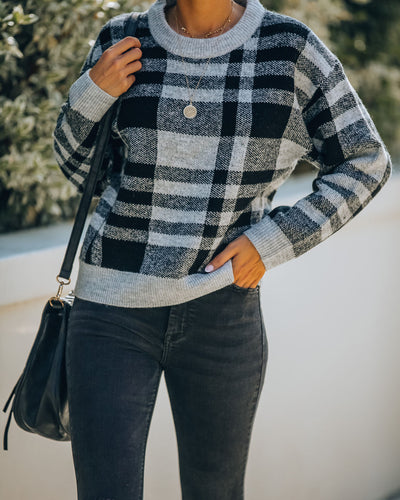Good Or Plaid Knit Sweater