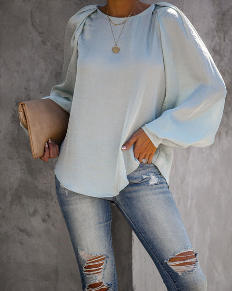 Far And Wide Balloon Sleeve Blouse - Mint