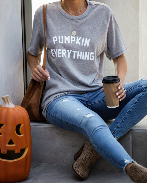 Pumpkin Everything Cotton Blend Tee