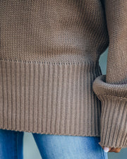 Loose Ends Tie Sweater - Mocha - FINAL SALE view 4