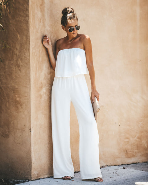 Crystal Clear Strapless Jumpsuit