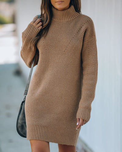 Coming To Town Metallic Knit Sweater Dress - FINAL SALE