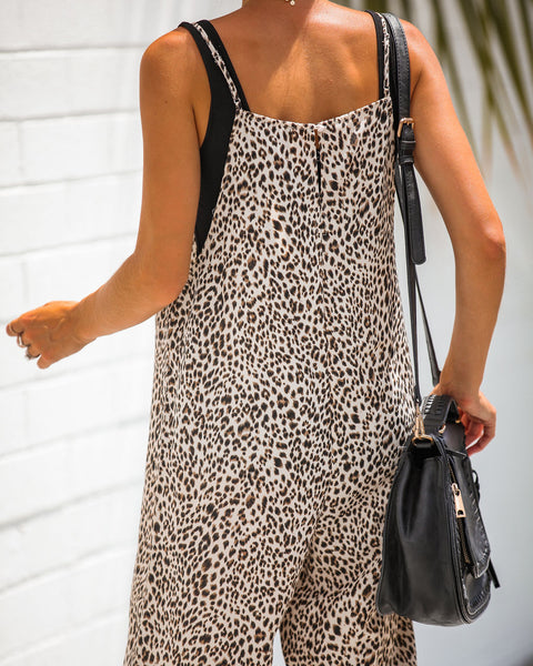 Lounging Leopard Relaxed Jumpsuit