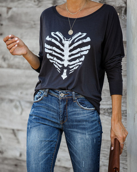 Skeleton Love Dolman Knit Top - FINAL SALE