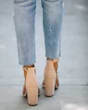 Formal Faux Suede Heel - Nude