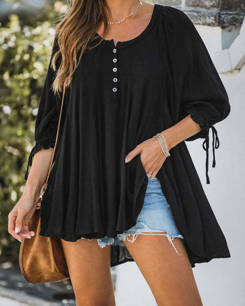Pursuit Of Joy High Low Tunic - Black