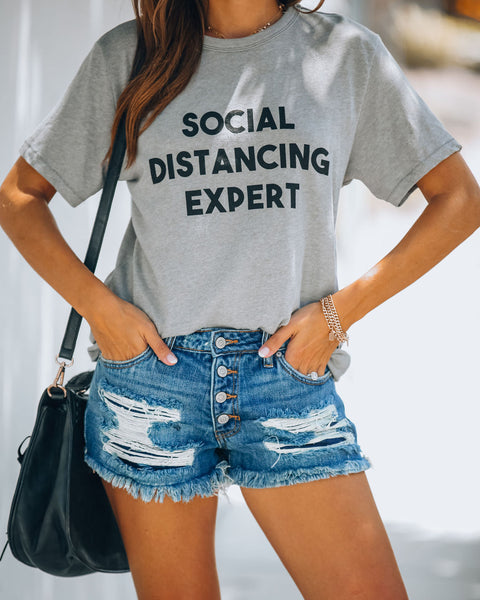 Social Distancing Expert Cotton Blend Tee